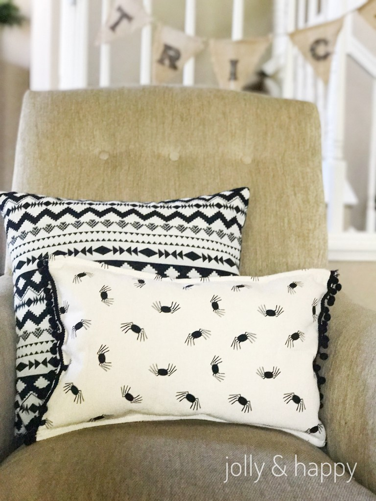 Target Dollar spot upcycle Halloween throw pillow
