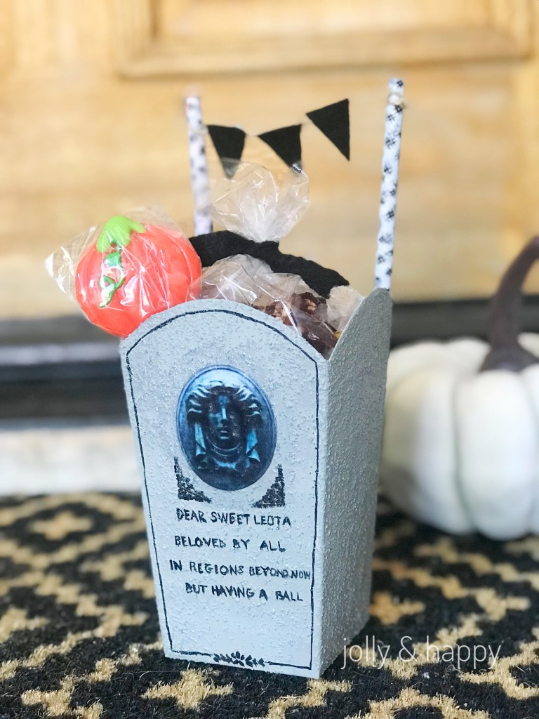 Haunted Mansion Tombstone Popcorn Box