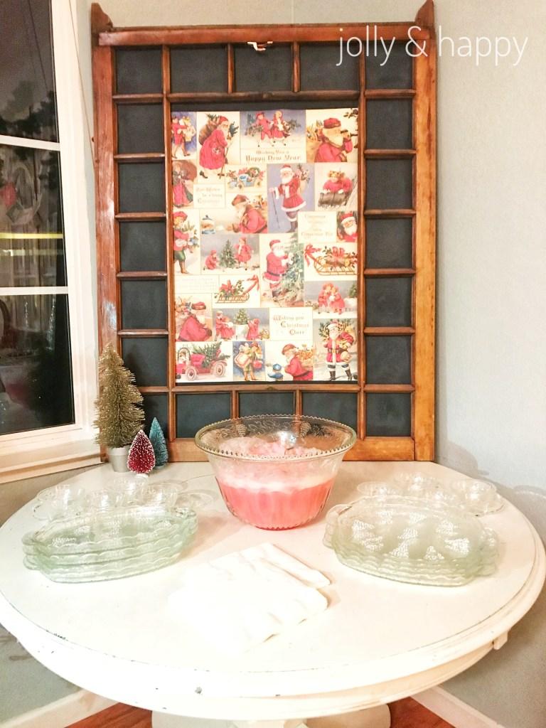 50's Retro Christmas cookie decorating