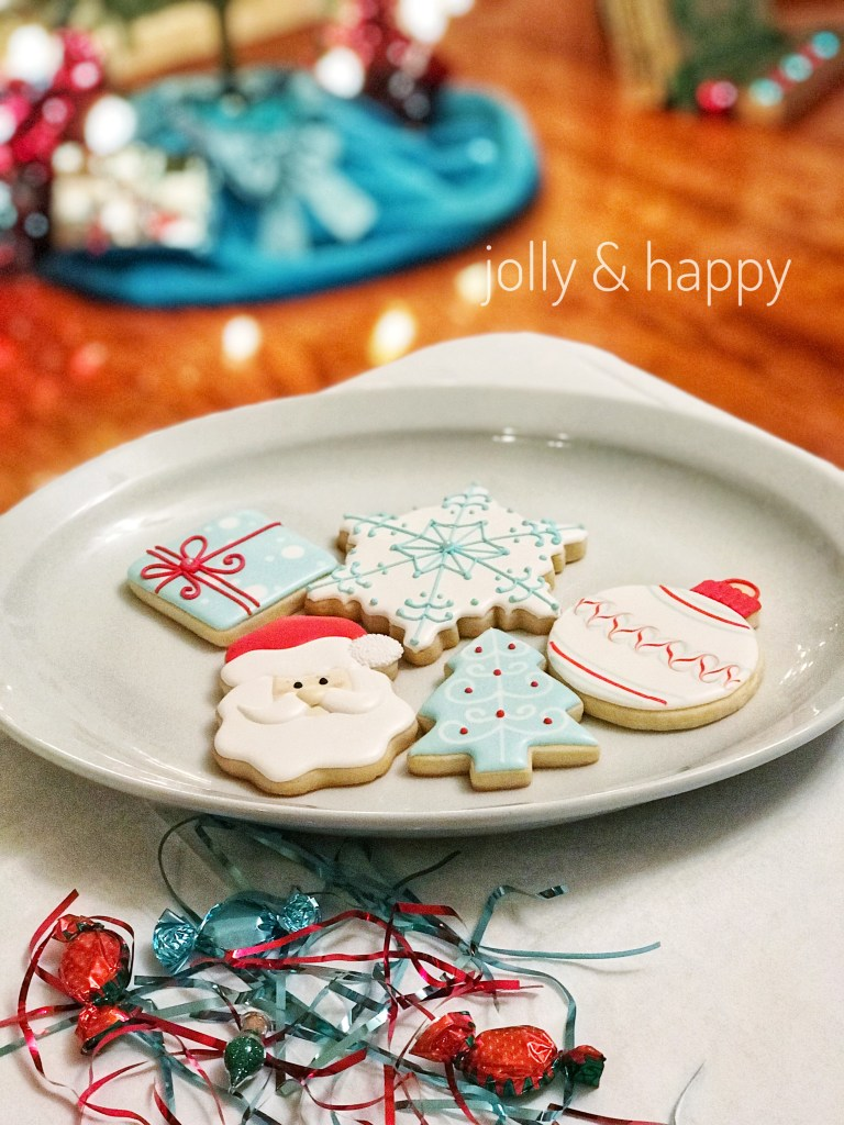 50s retro christmas cookie decorating