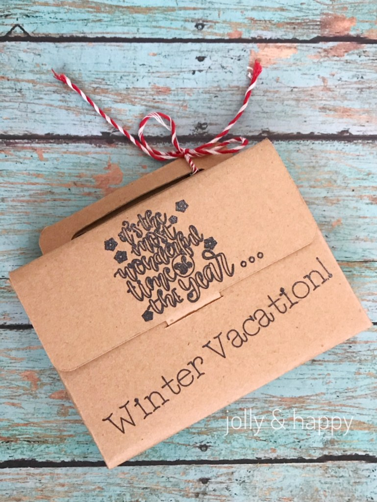 Cricut teacher gift christmas vacation gift card holder