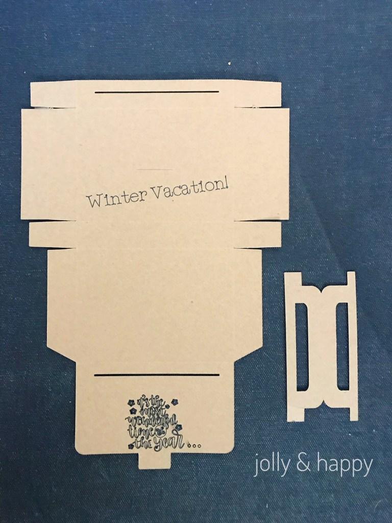 Cricut christmas vacation teacher gift card holder