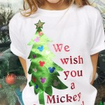Mickey Christmas Shirt with Cricut
