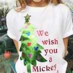 Mickey Christmas Shirt with Cricut