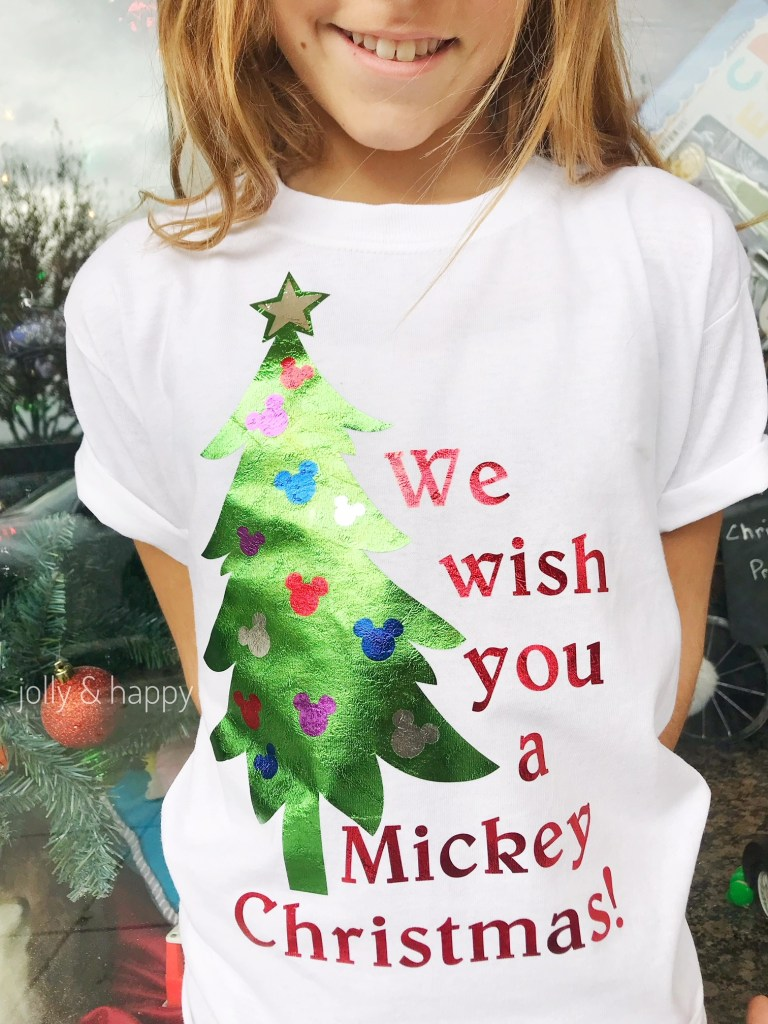 mickey christmas shirt with circut