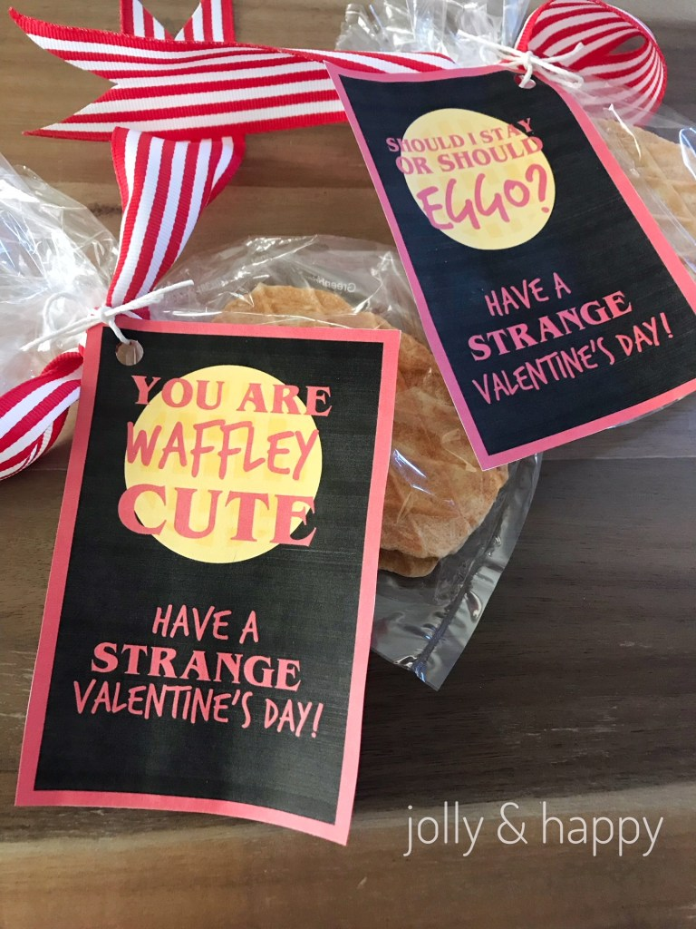 stranger things waffle valentines