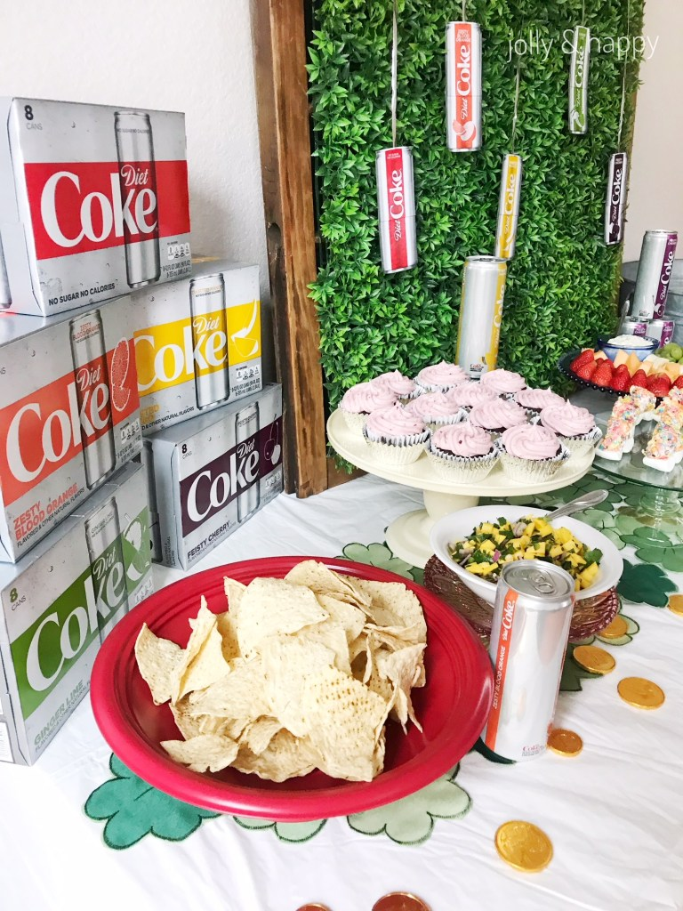 St. Patrick's Day Diet Coke party