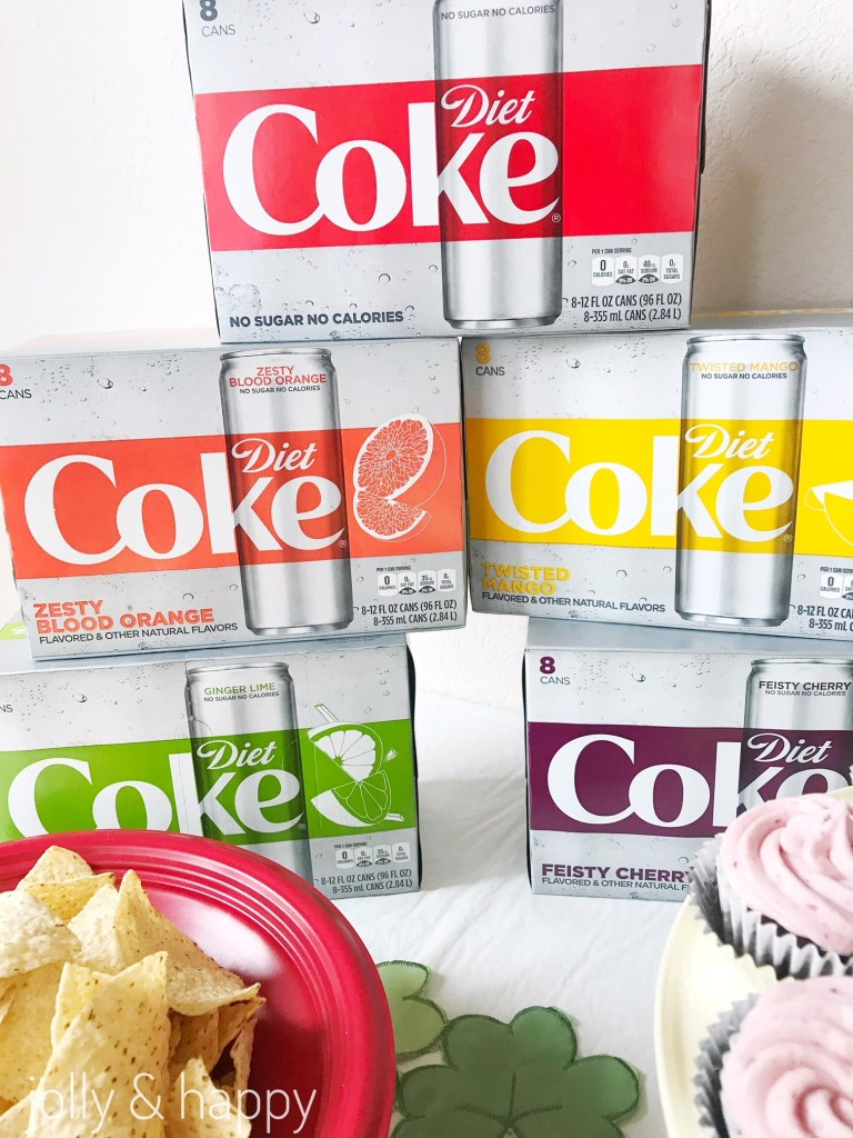 rainbow colors diet coke st. patrick's day party
