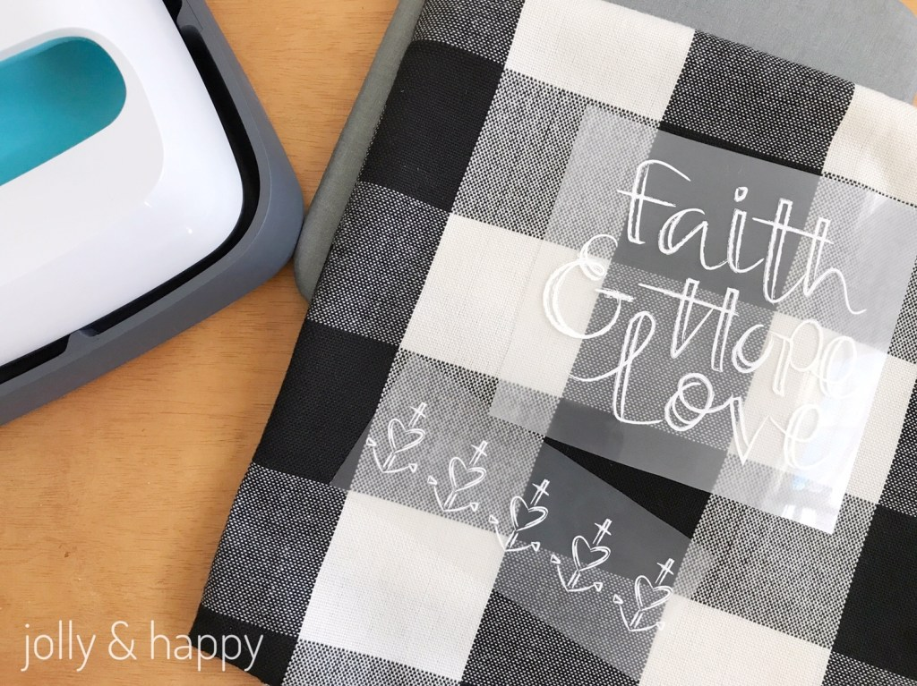 Customize Cricut Iron on Designs for home decor