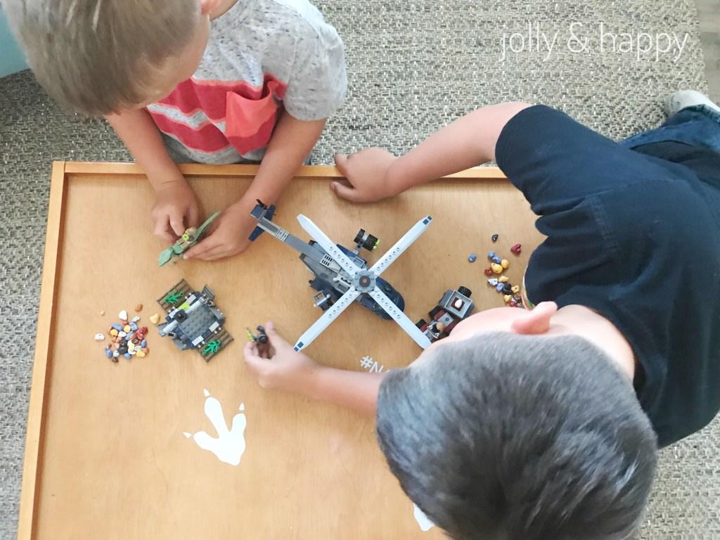 Lego helicopter Jurassic World