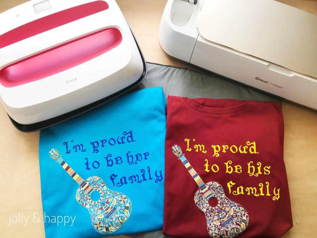 Cricut Maker and Cricut EasyPress makes t-shirt designs easy