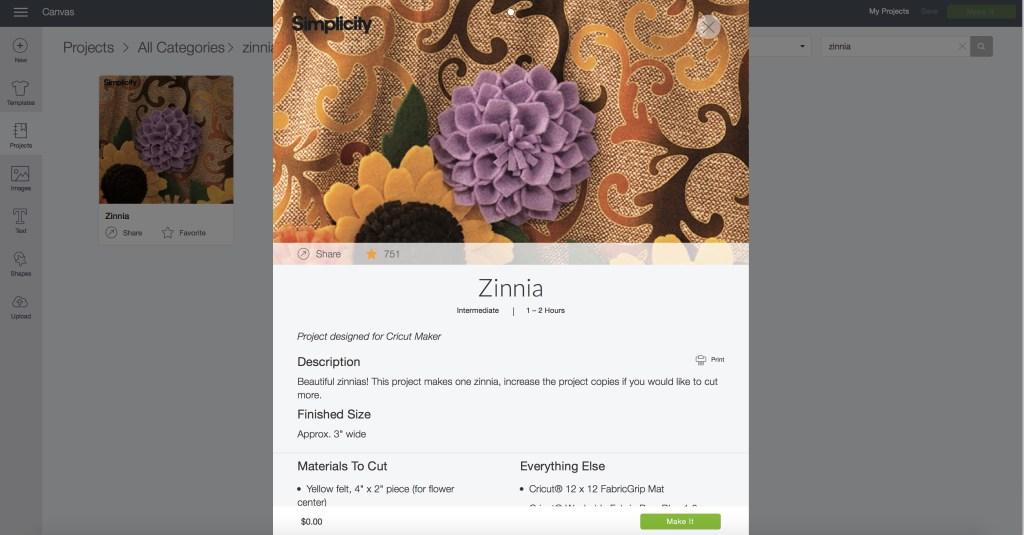 Cricut Zinnia flowers for homemade costumes