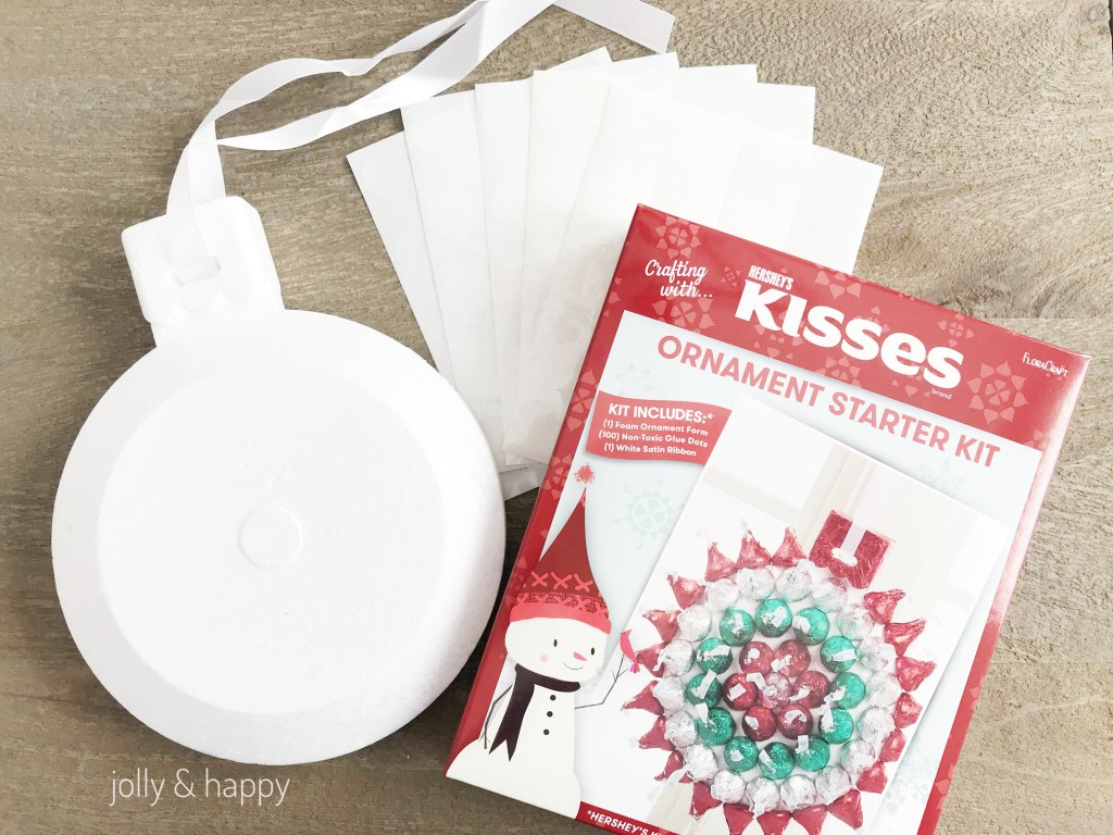 Ornament Starter kit comes with foam form and glue dots