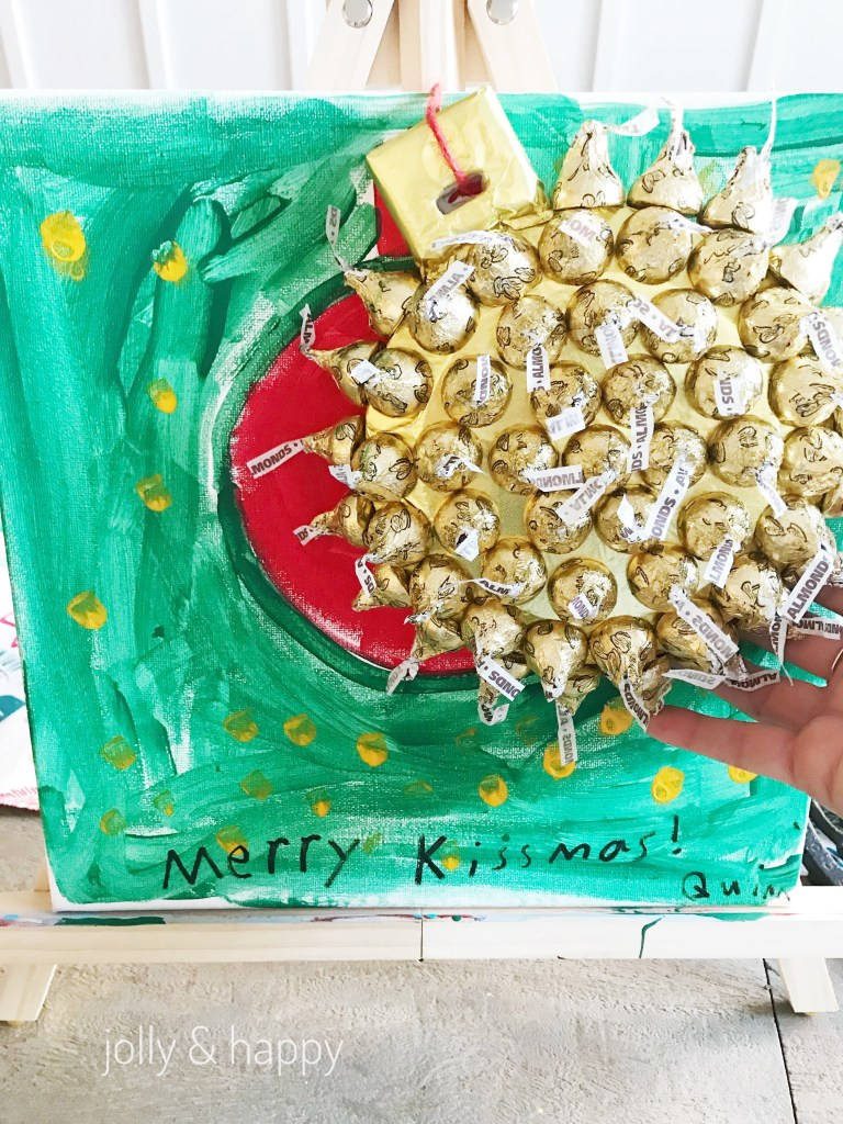 Add your ForaCraft Hershey kisses ornament to the canvas with a string