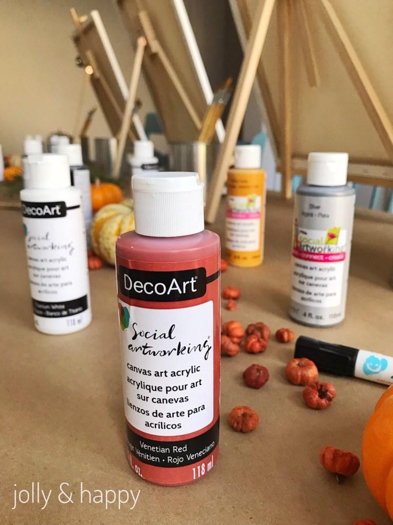 We used DecoArt paint