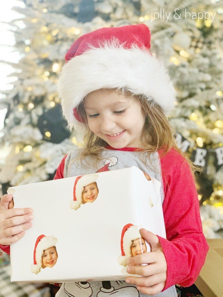 Custom personalized wrapping paper with your face