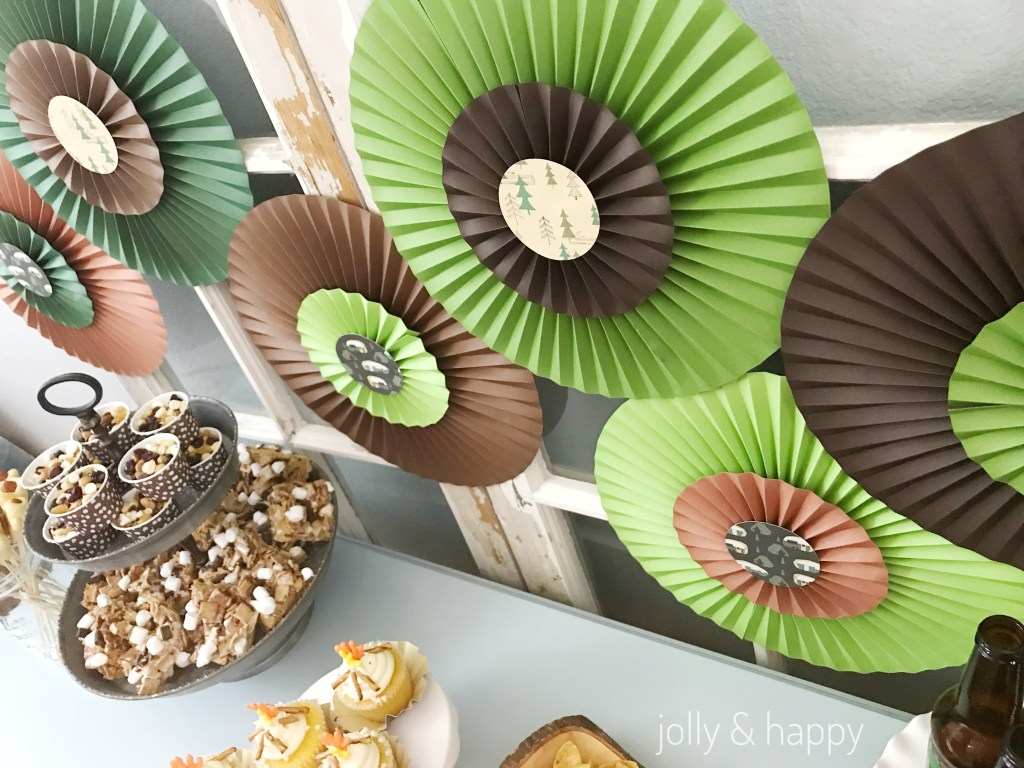 Cricut camping paper for paper rosettes