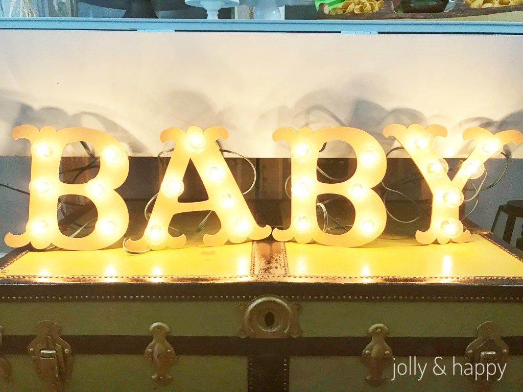 Marquee baby sign for baby shower