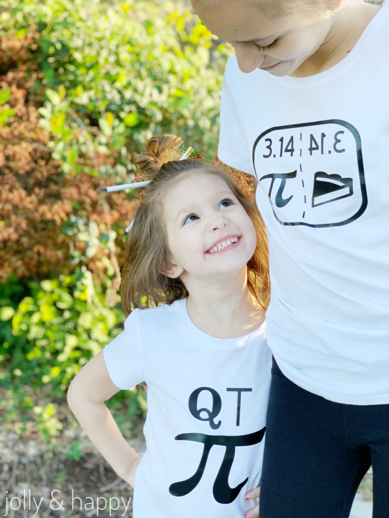 Pi day shirts made with Cricut