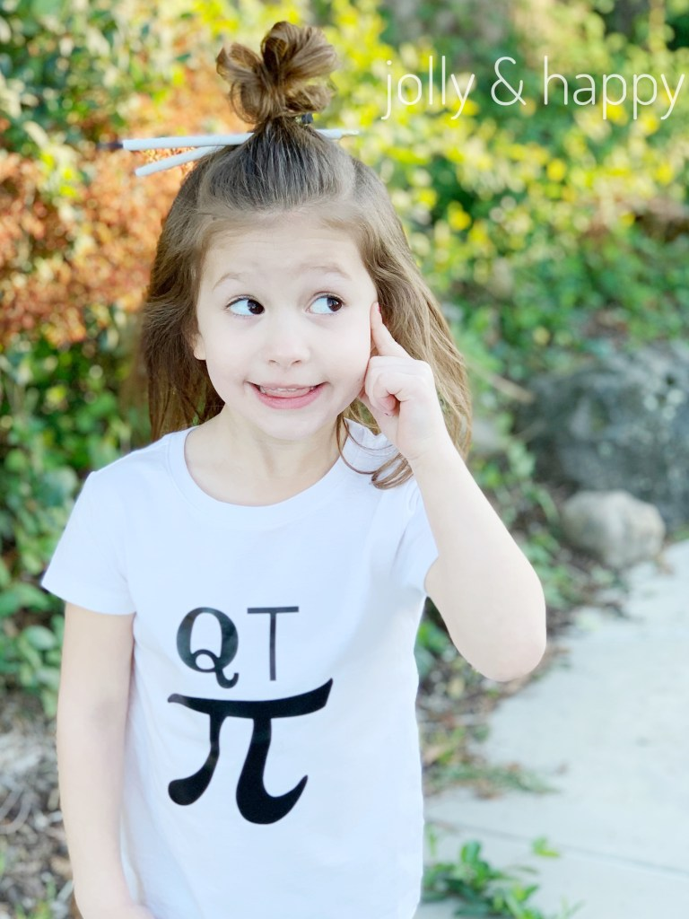 Cricut DIY Pi day shirt