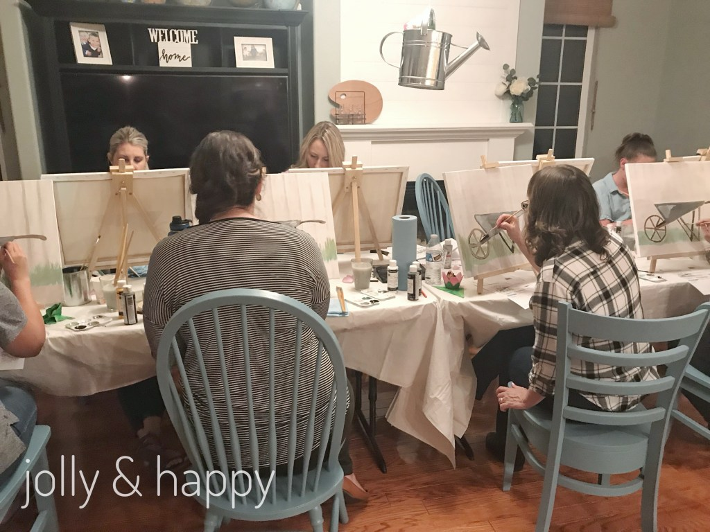 at home paint party social artworking