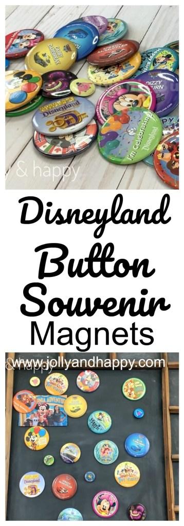 Disneyland button souvenir magnets diY