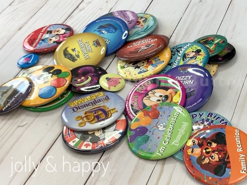 Disney Souvenir Button Magnets