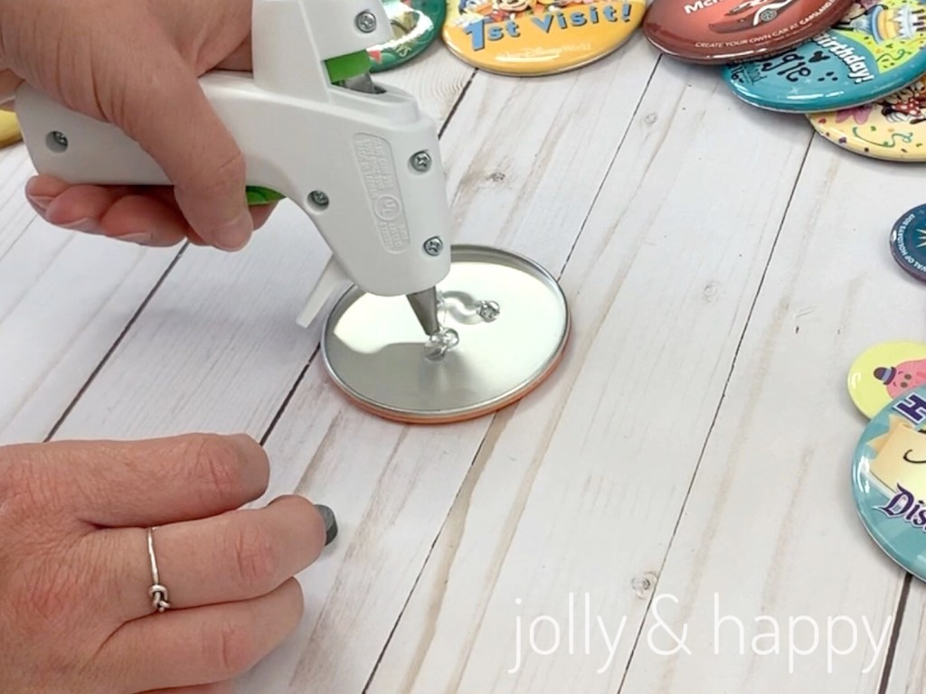 Button Magnets add glue for magnets