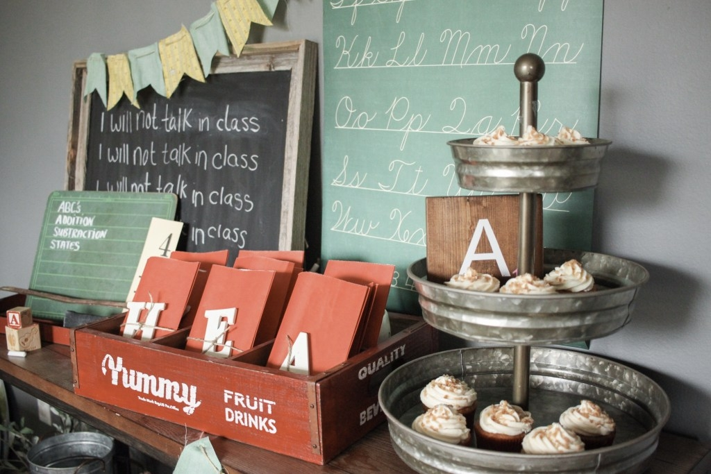 vintage back to school party