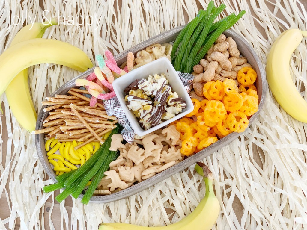Lion King kids snacks charcuterie board