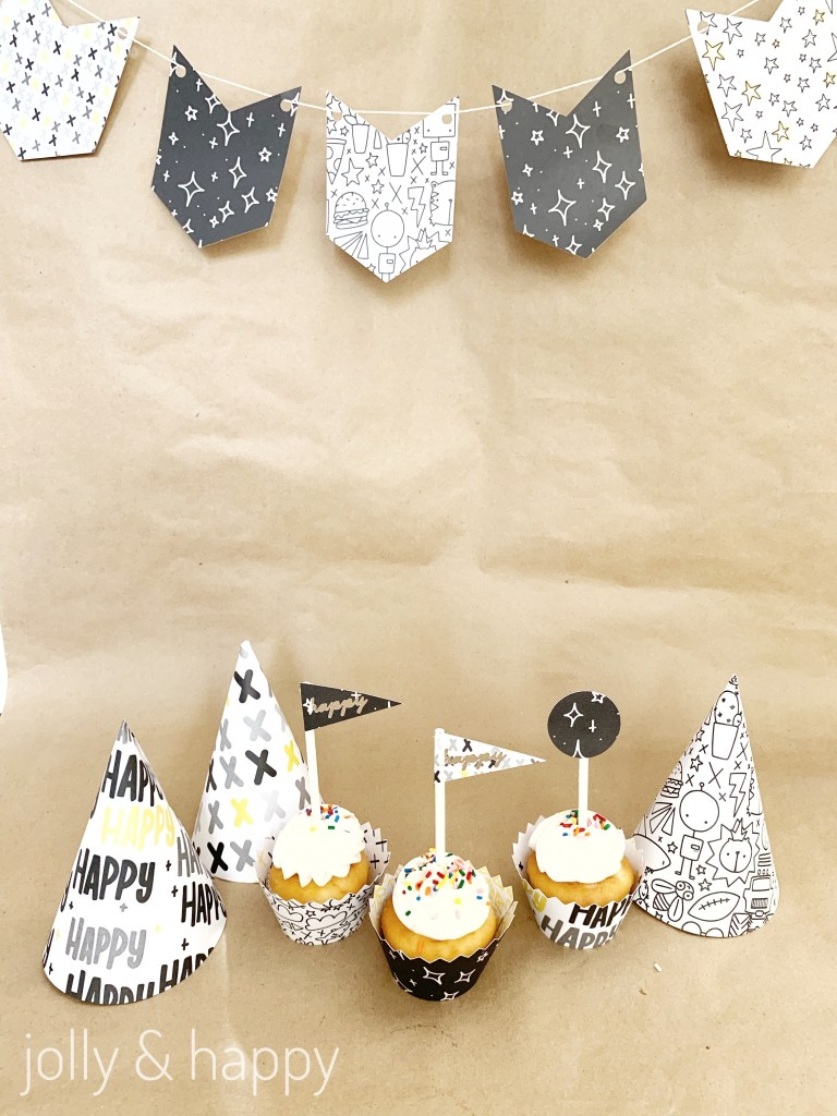 mix & match custom birthday theme with Cricut