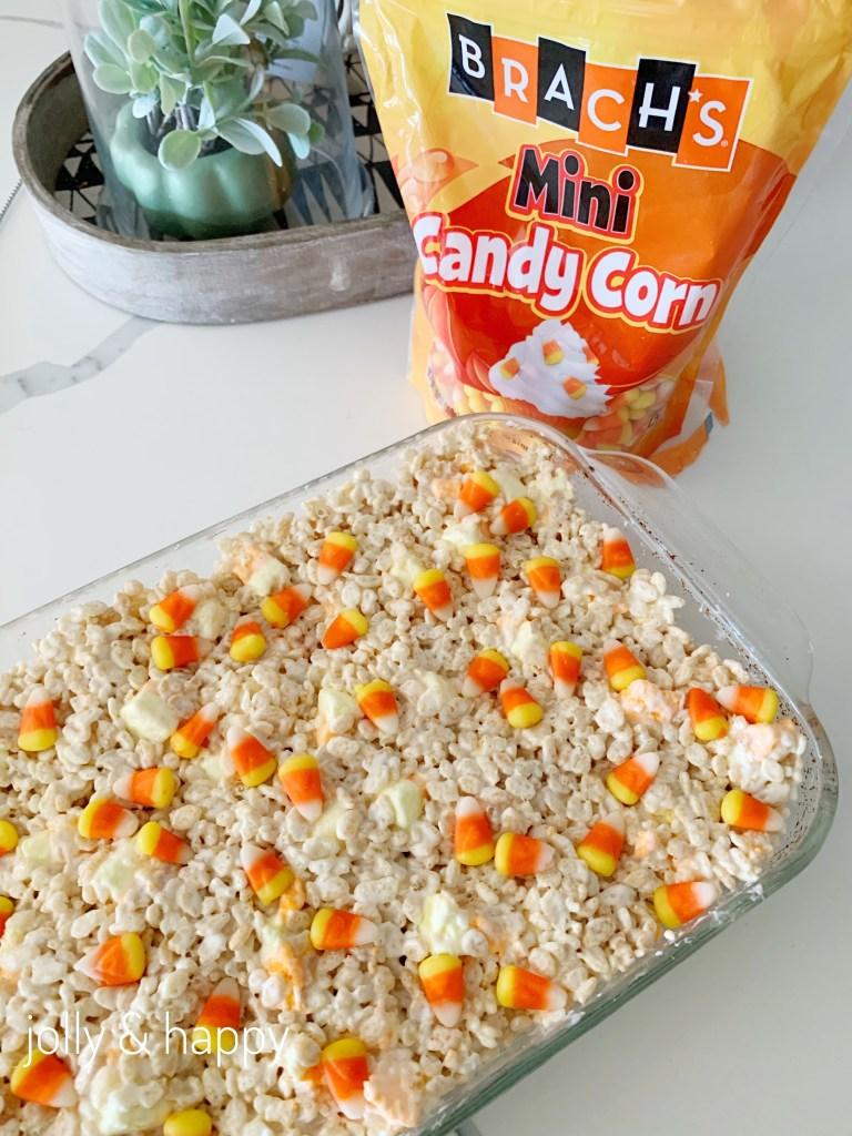 Brachs mini candy corn for rice krispie treats