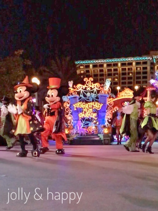 disney frightfully fun parade