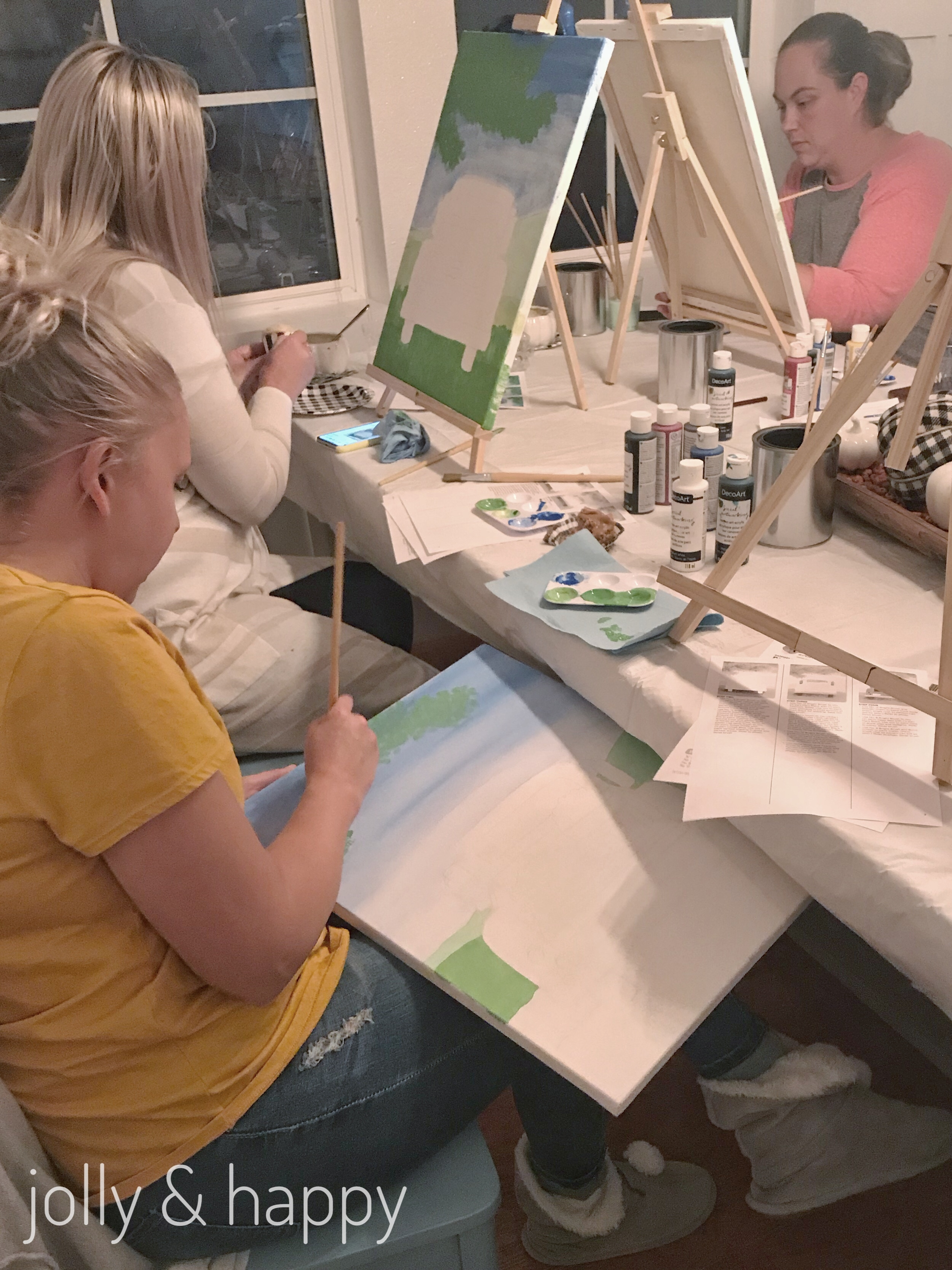 social artworking paint party