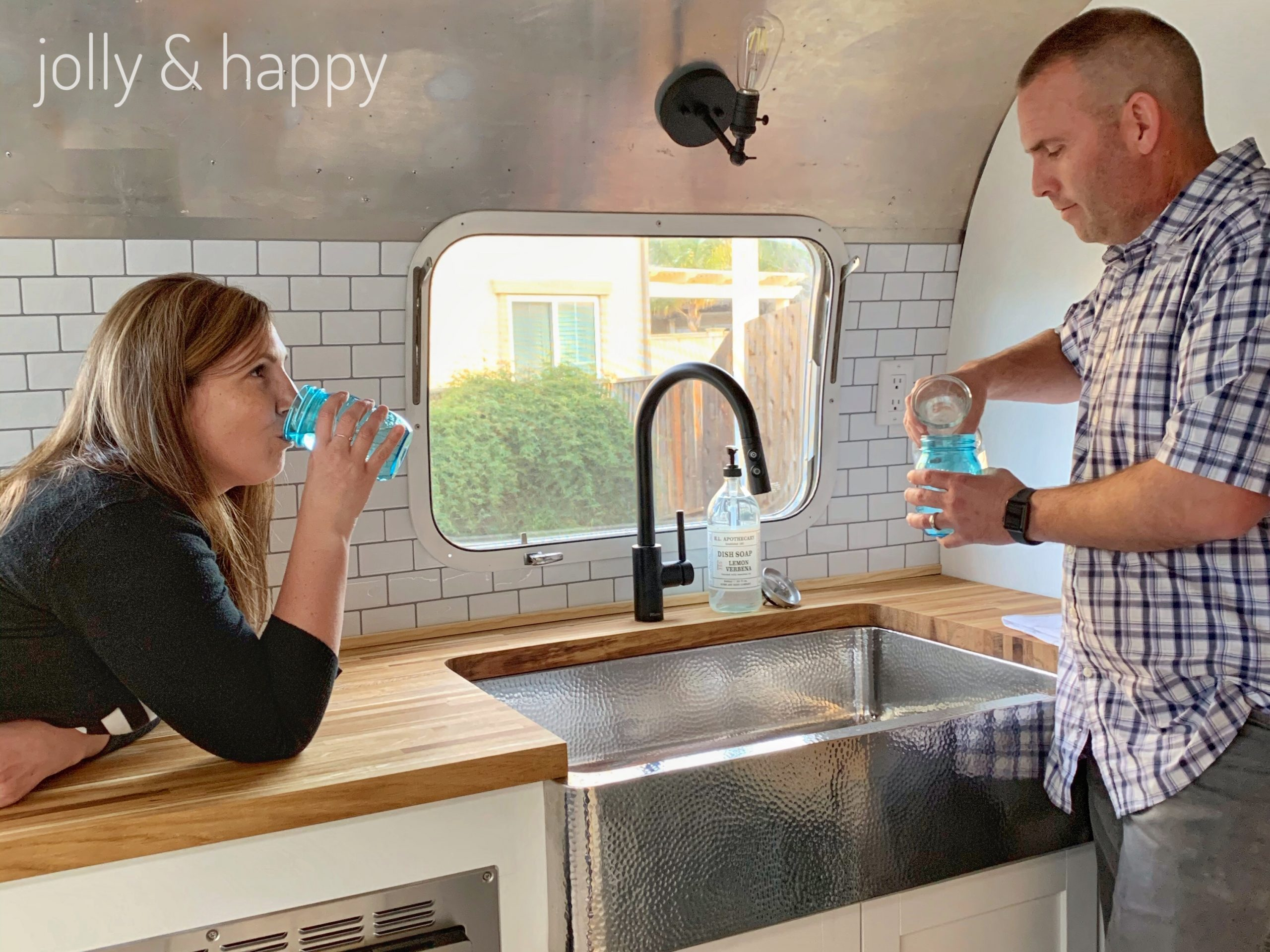 Sinkology sink Airstream renovation