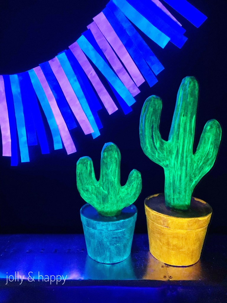 DecoArt Glow Paint with a black light
