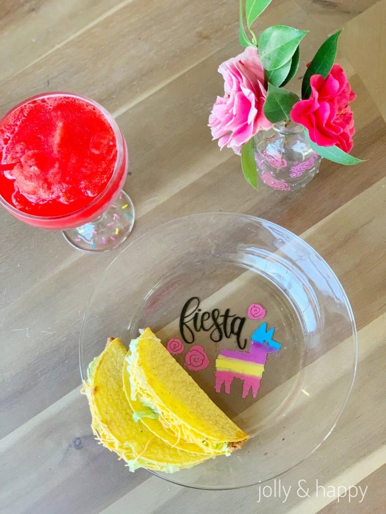 DIY Custom glassware for Cinco De Mayo party