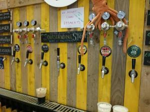 Tap lineup at London Vegan Beer Festival