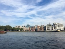 View from the South bank across the Thames