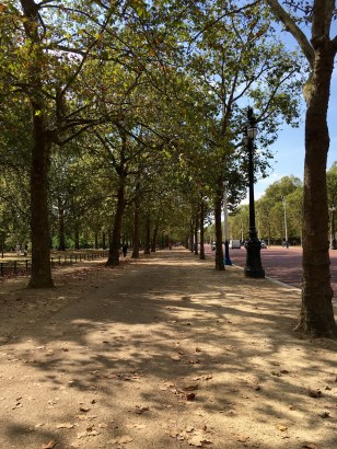 Walkway to Buckingham Palace