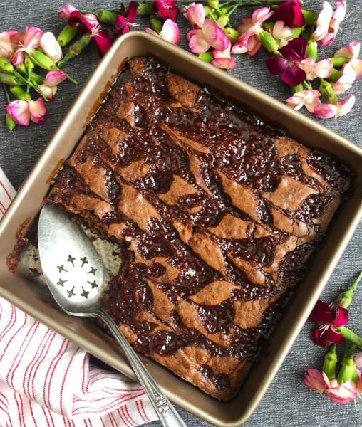 blackberry beet brownies