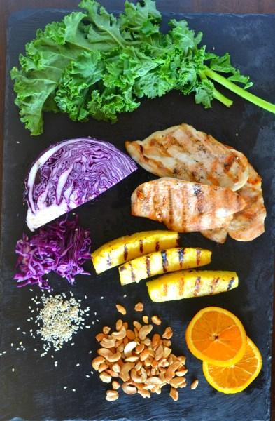 Grilled pineapple chicken salad