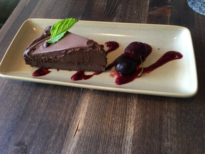 Vegan chocolate torte. Delicious!