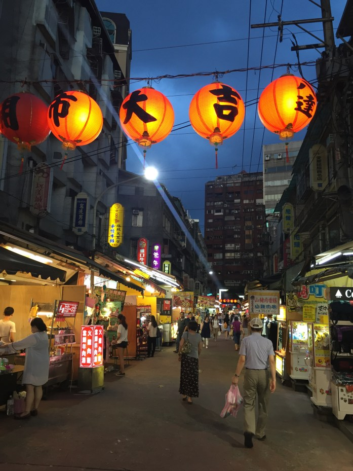 Tonghua/Lingjiang Street night market in Taipei.