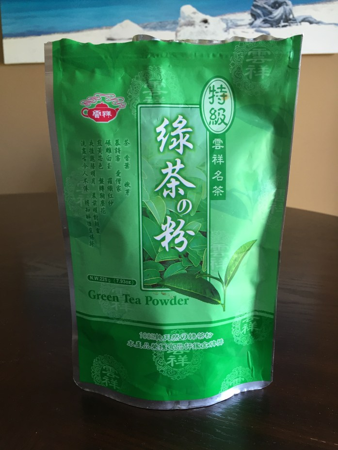 Green tea powder from T&T Supermarket.