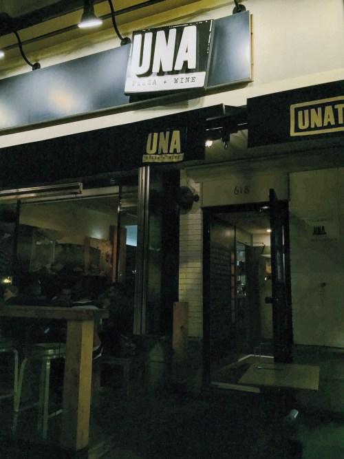 Una Pizza Calgary storefront.
