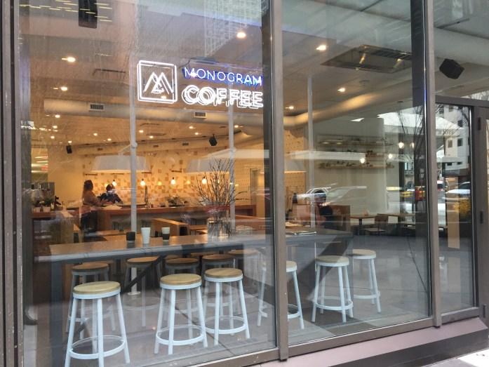 Monogram Coffee's vintage neon sign.