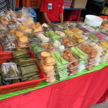 A variety of kuih from the Indonesian market at Little Arabia.