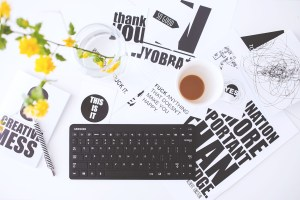 Keyboard of a busy marketer