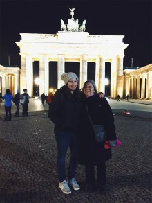 Mom & I at the Brandenburg Gate